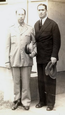 Moe Berg with Colonel Howard Dix