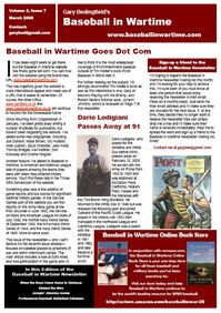 Baseball in Wartime Newsletter No 7 March 2008