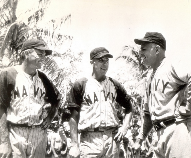 d4dc08bbe Pee Wee Reese (center) with Pink May and Johnny Vander Meer in the Pacific